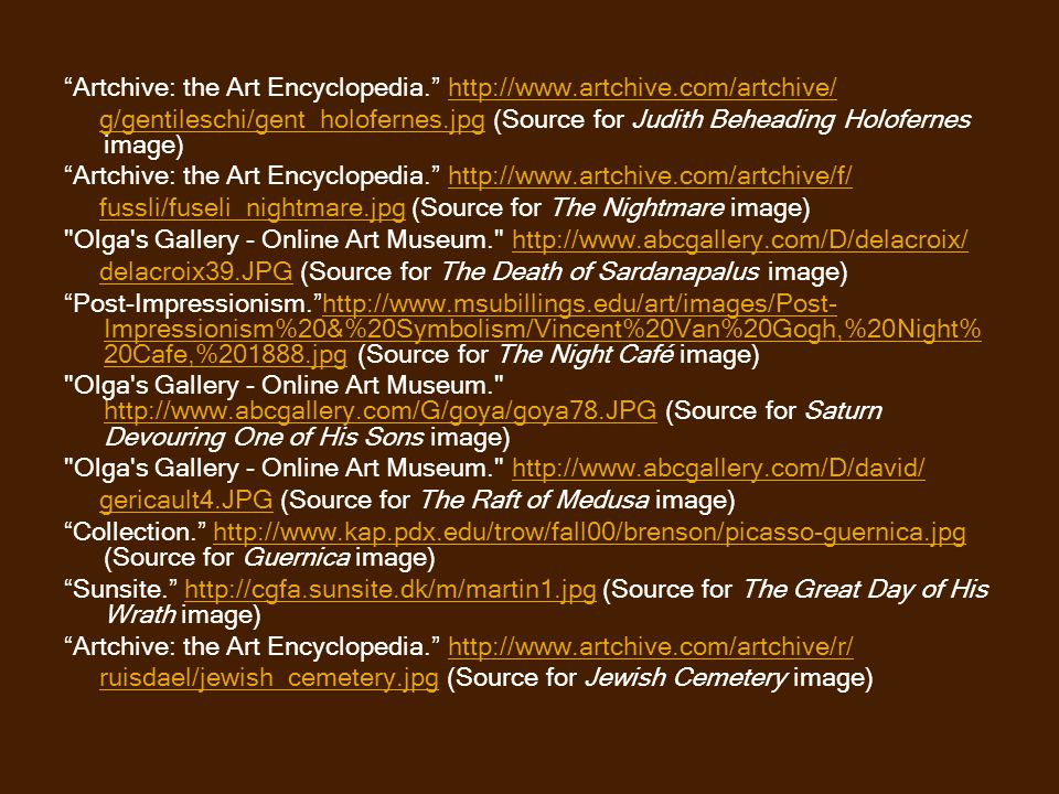 Artchive: the Art Encyclopedia. http://www.artchive.com/artchive/