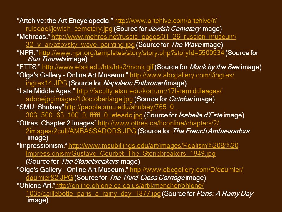 Artchive: the Art Encyclopedia. http://www.artchive.com/artchive/r/