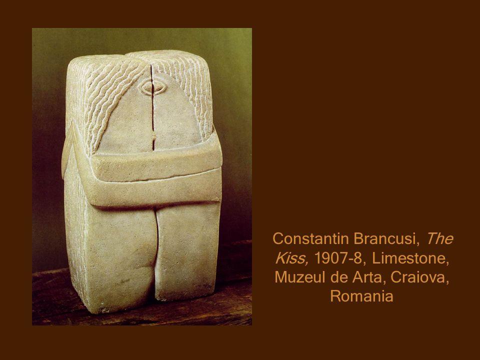 Constantin Brancusi, The Kiss, 1907-8, Limestone, Muzeul de Arta, Craiova, Romania