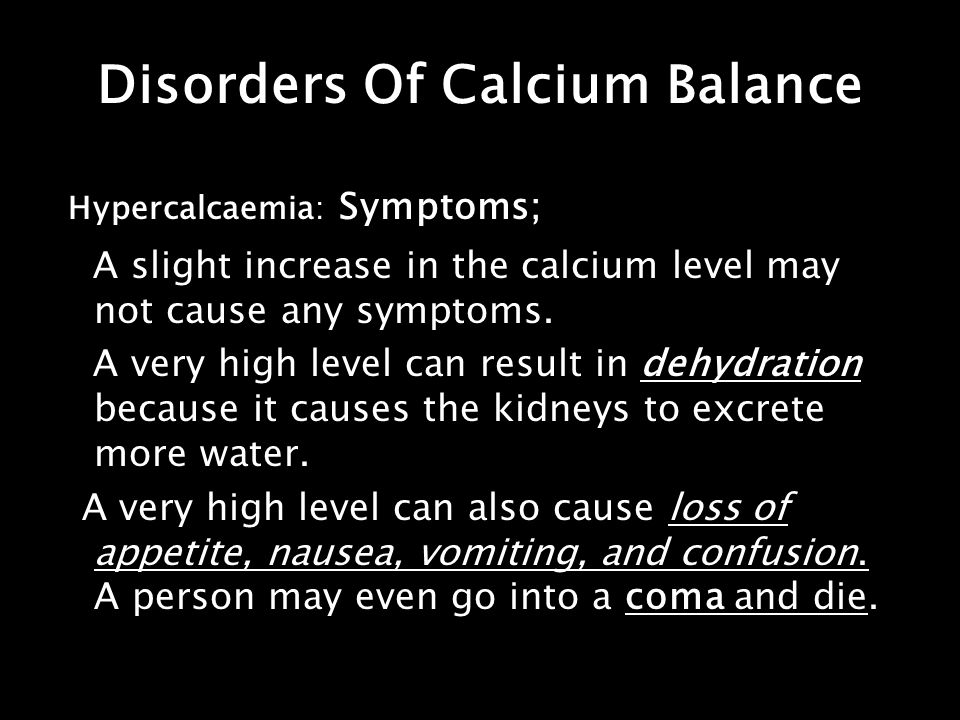 Disorders Of Calcium Balance