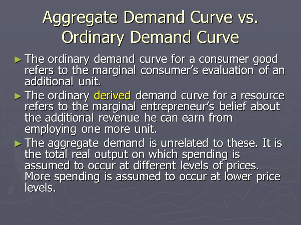 Aggregate Demand Curve vs. Ordinary Demand Curve