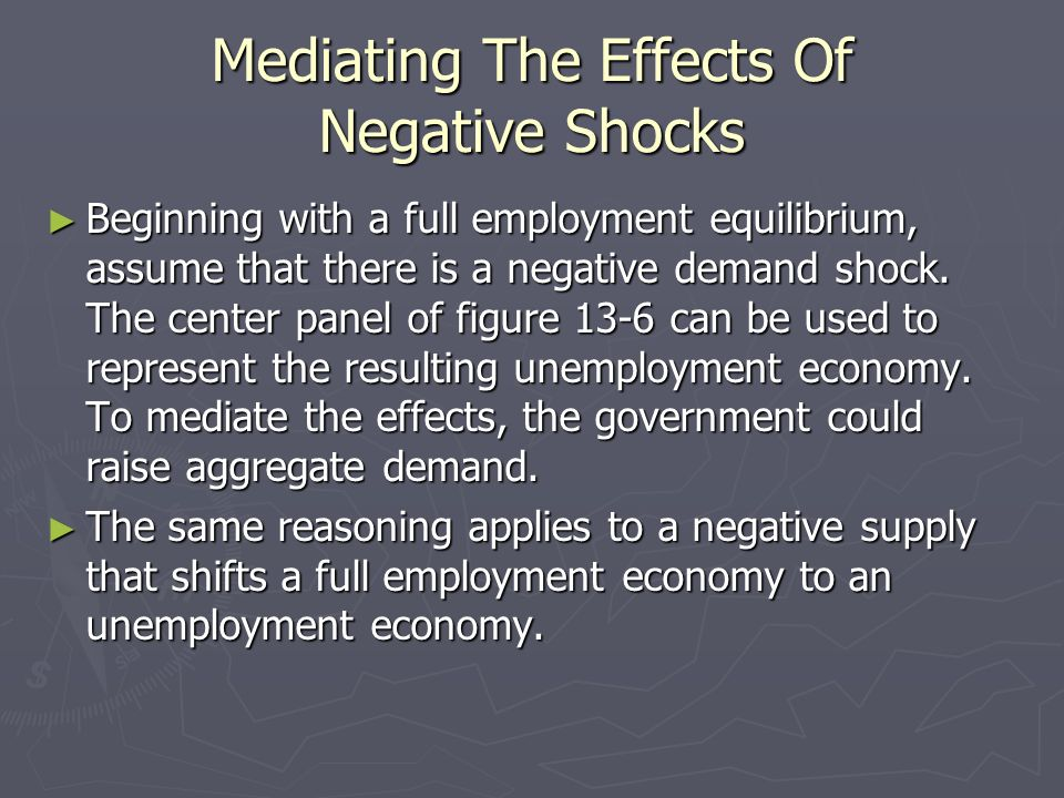 Mediating The Effects Of Negative Shocks