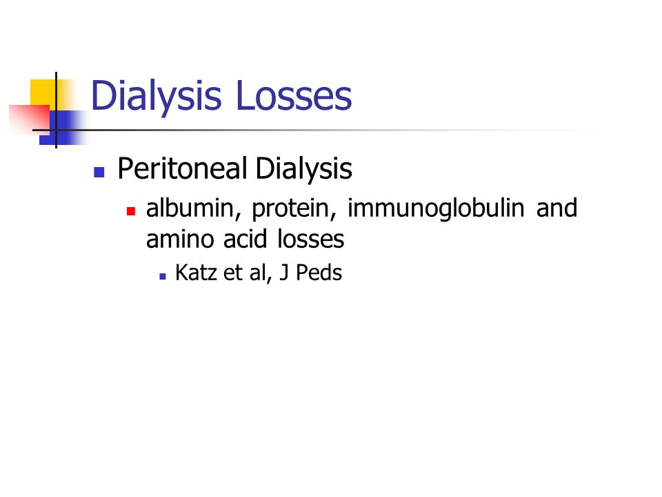 Dialysis Losses Peritoneal Dialysis