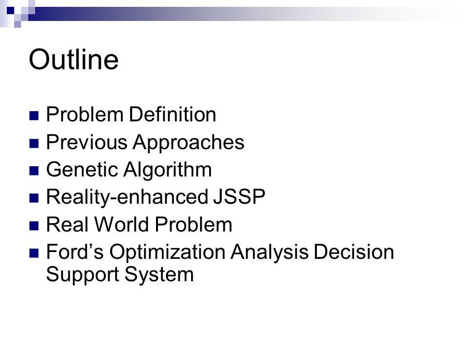 Outline Problem Definition Previous Approaches Genetic Algorithm