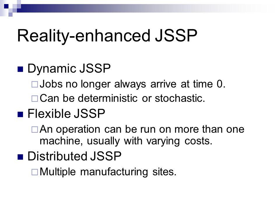 Reality-enhanced JSSP