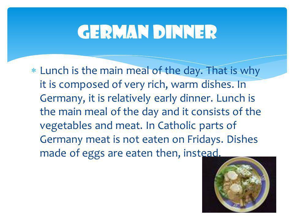 German Dinner