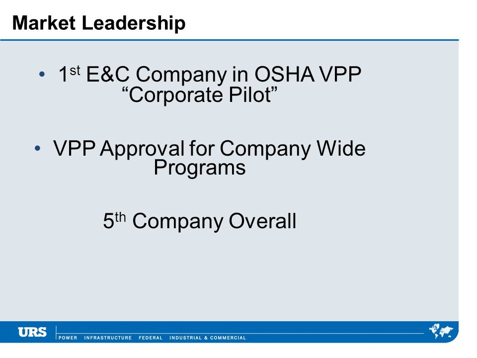 1st E&C Company in OSHA VPP Corporate Pilot