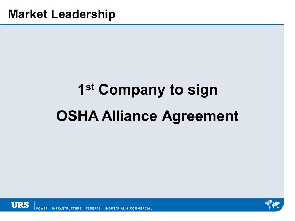 OSHA Alliance Agreement