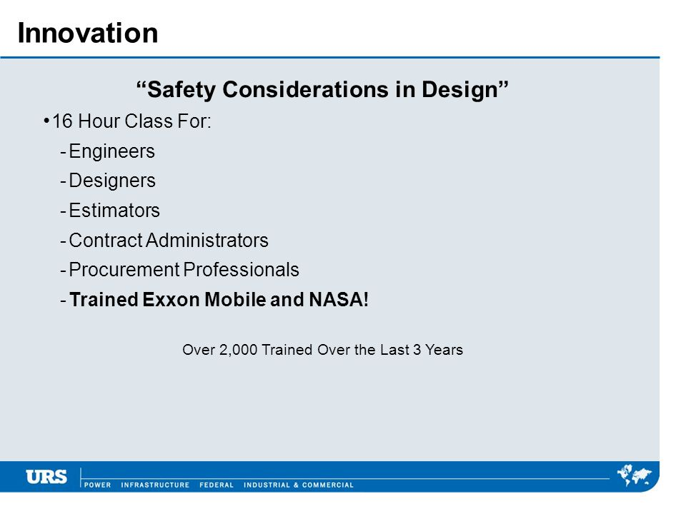 Safety Considerations in Design