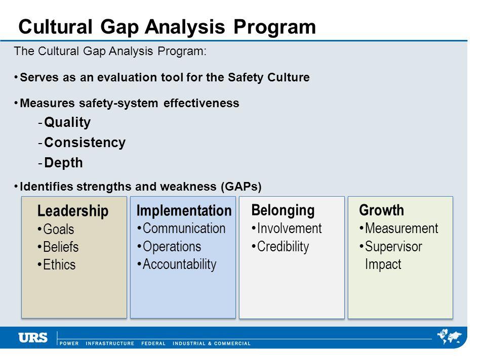 Cultural Gap Analysis Program