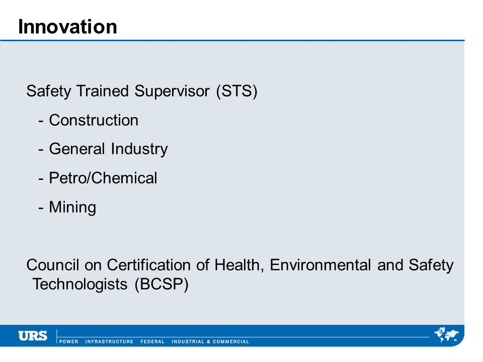 Innovation Safety Trained Supervisor (STS) Construction
