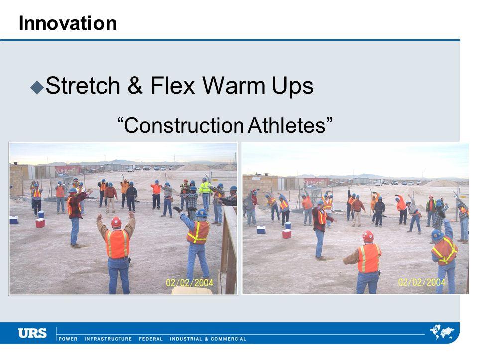 Innovation Stretch & Flex Warm Ups Construction Athletes