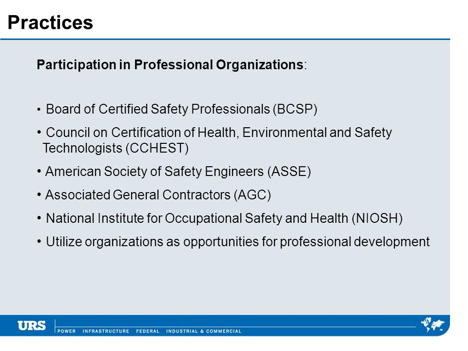 Practices Participation in Professional Organizations: