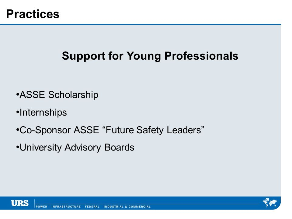 Support for Young Professionals
