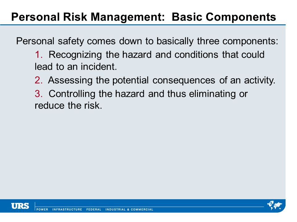 Personal Risk Management: Basic Components