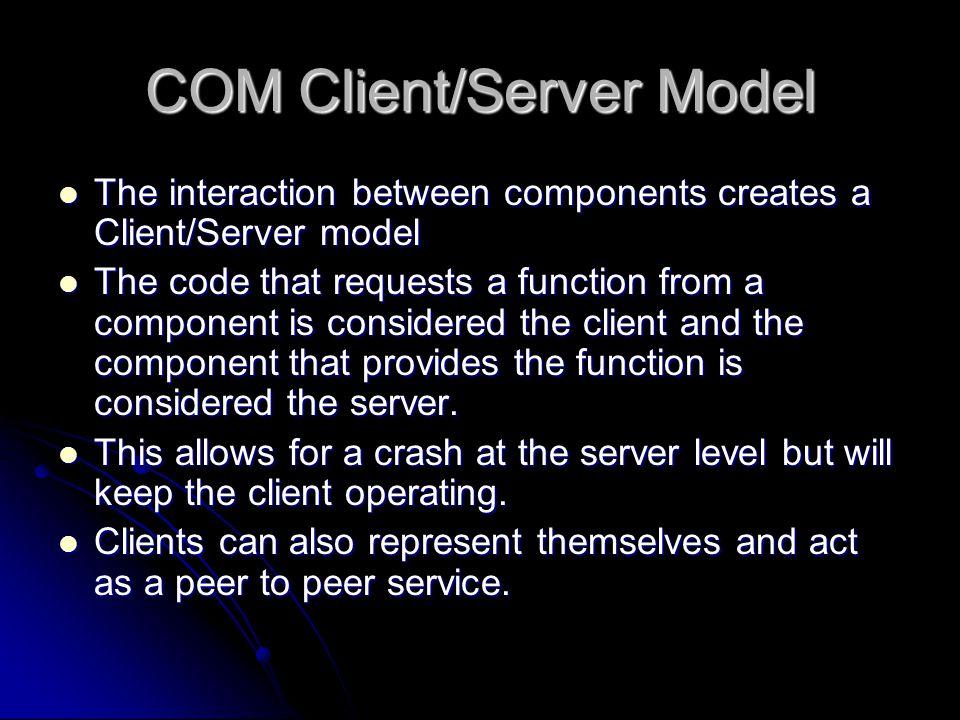 COM Client/Server Model