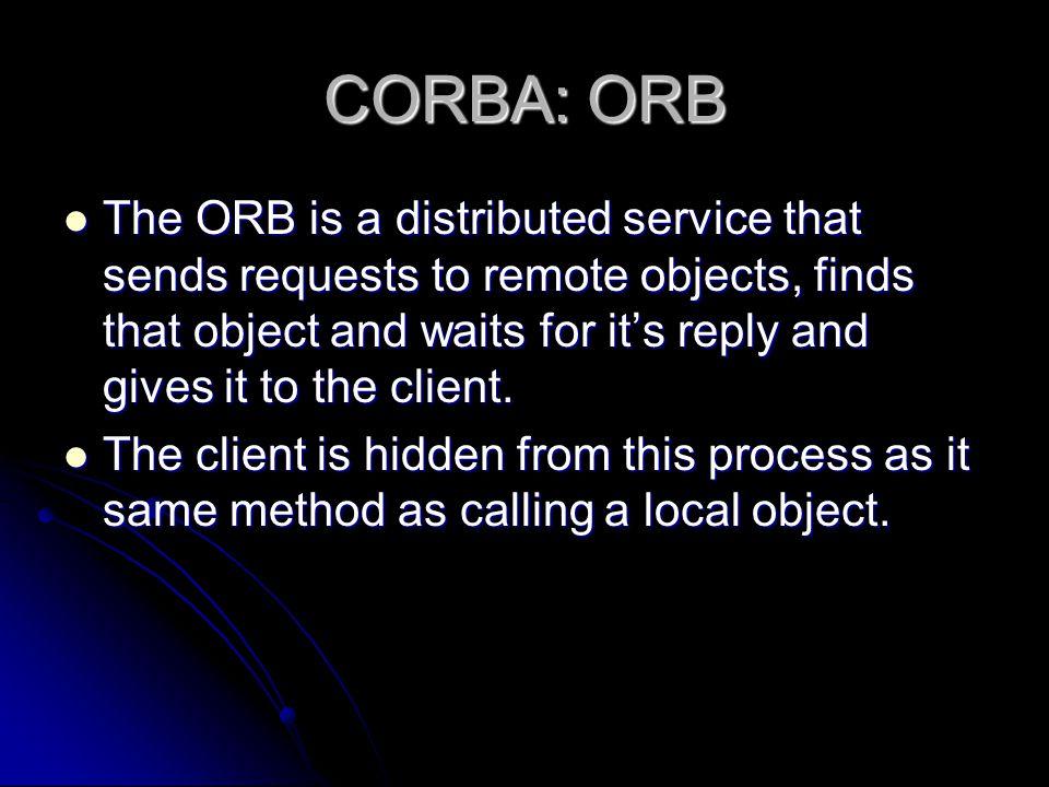 CORBA: ORB