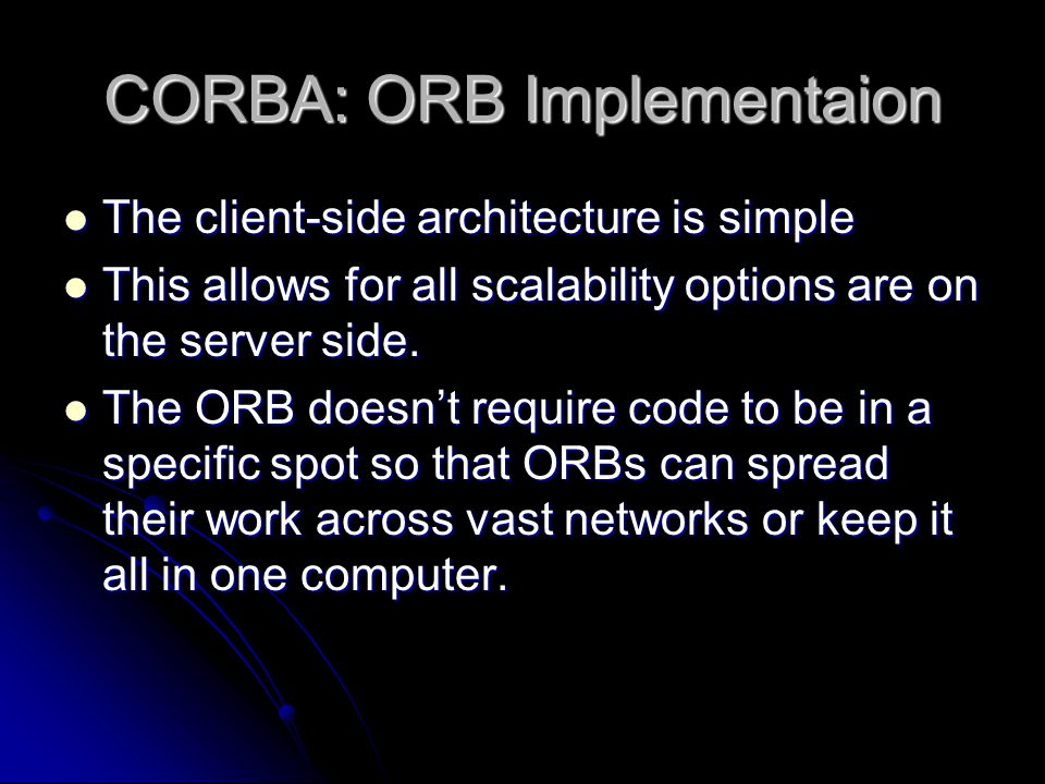CORBA: ORB Implementaion
