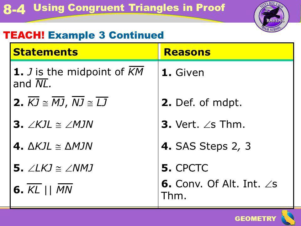 TEACH! Example 3 Continued