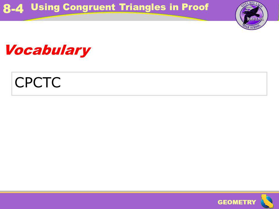 Vocabulary CPCTC