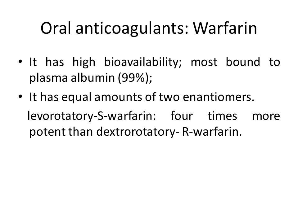 Oral anticoagulants: Warfarin