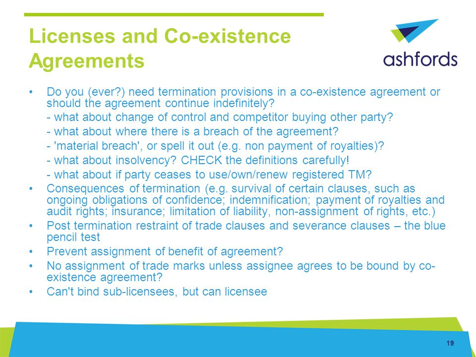 Licenses and Co-existence Agreements