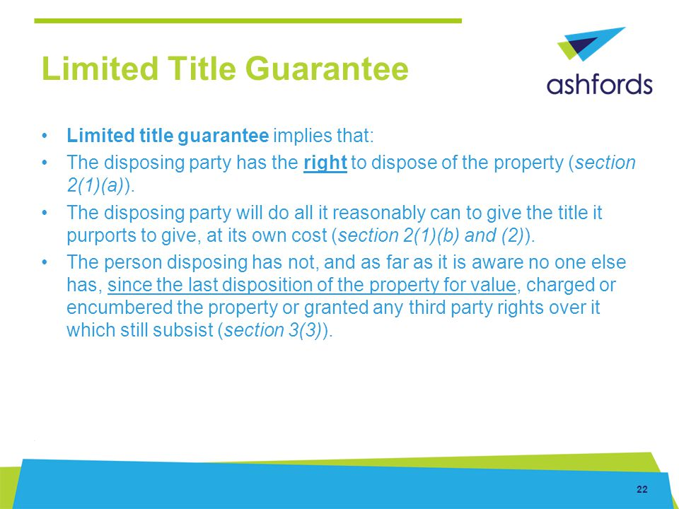 Limited Title Guarantee