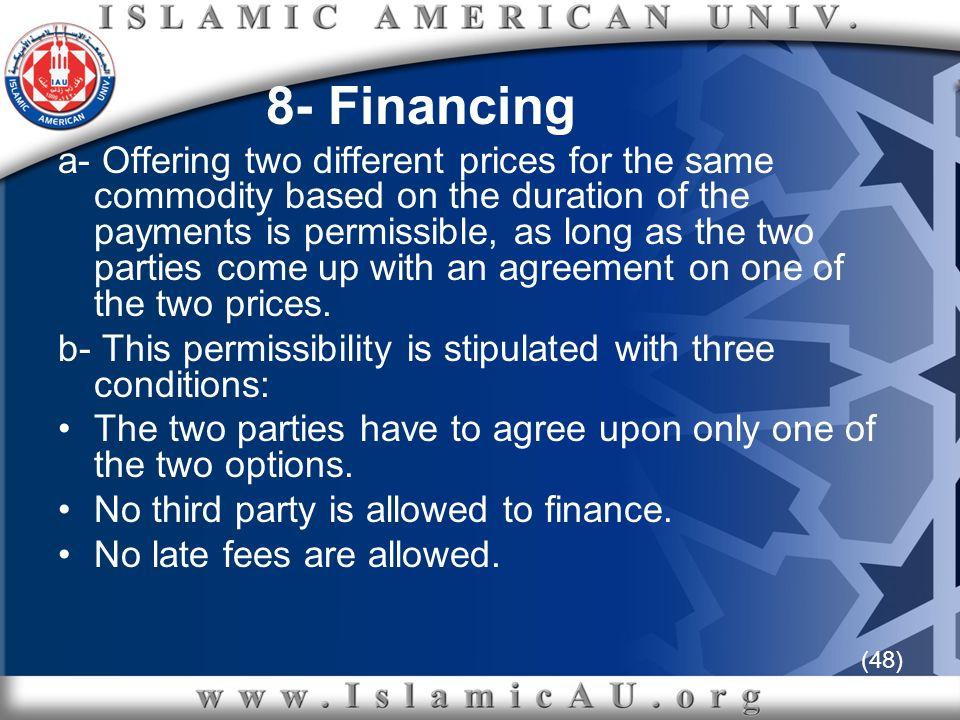 8- Financing