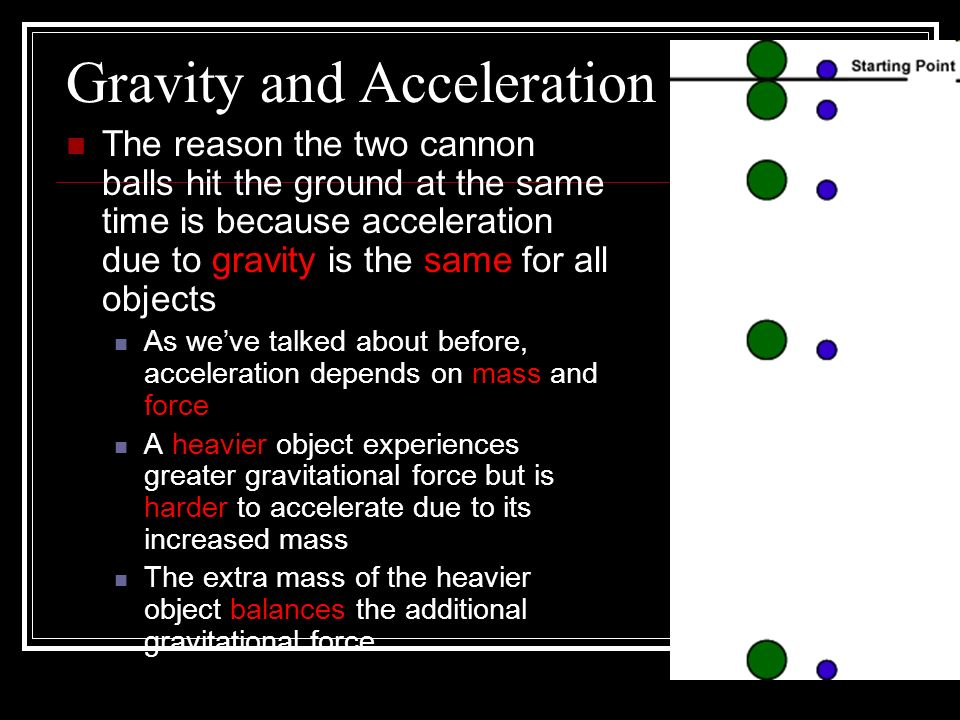 Gravity and Acceleration