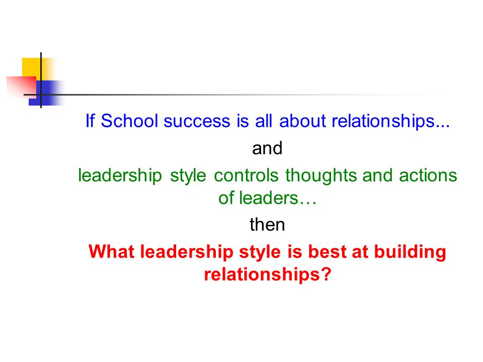 If School success is all about relationships
