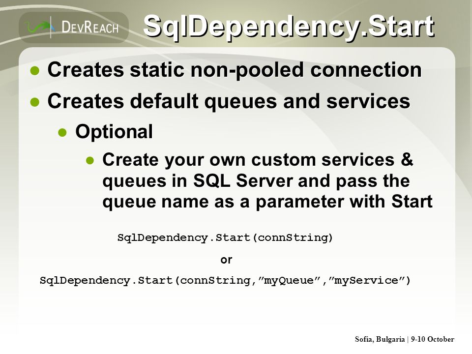 SqlDependency.Start Creates static non-pooled connection
