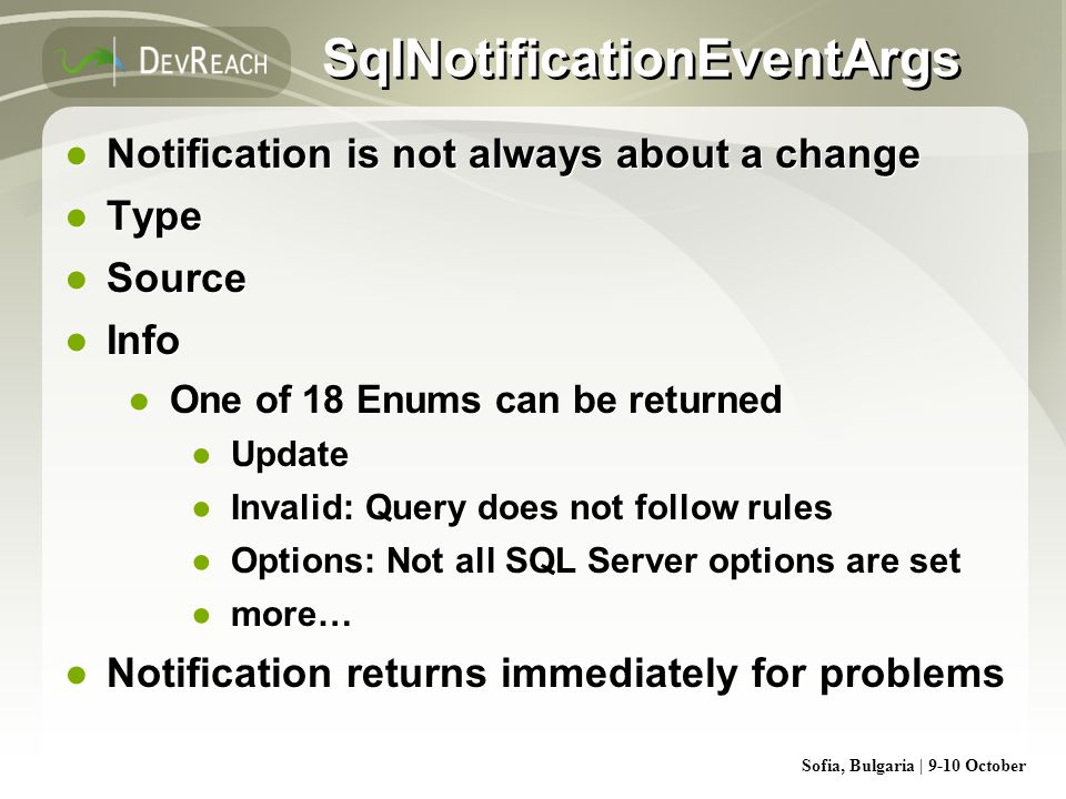 SqlNotificationEventArgs