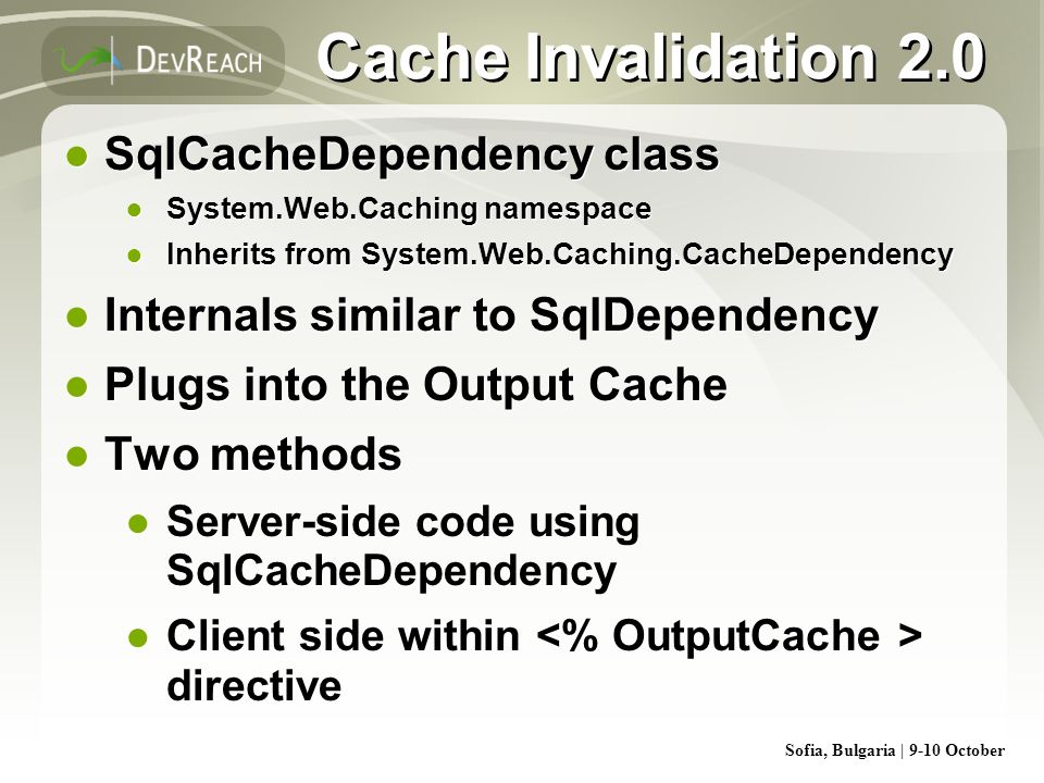Cache Invalidation 2.0 SqlCacheDependency class