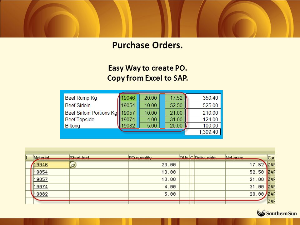 Purchase Orders. Easy Way to create PO. Copy from Excel to SAP.