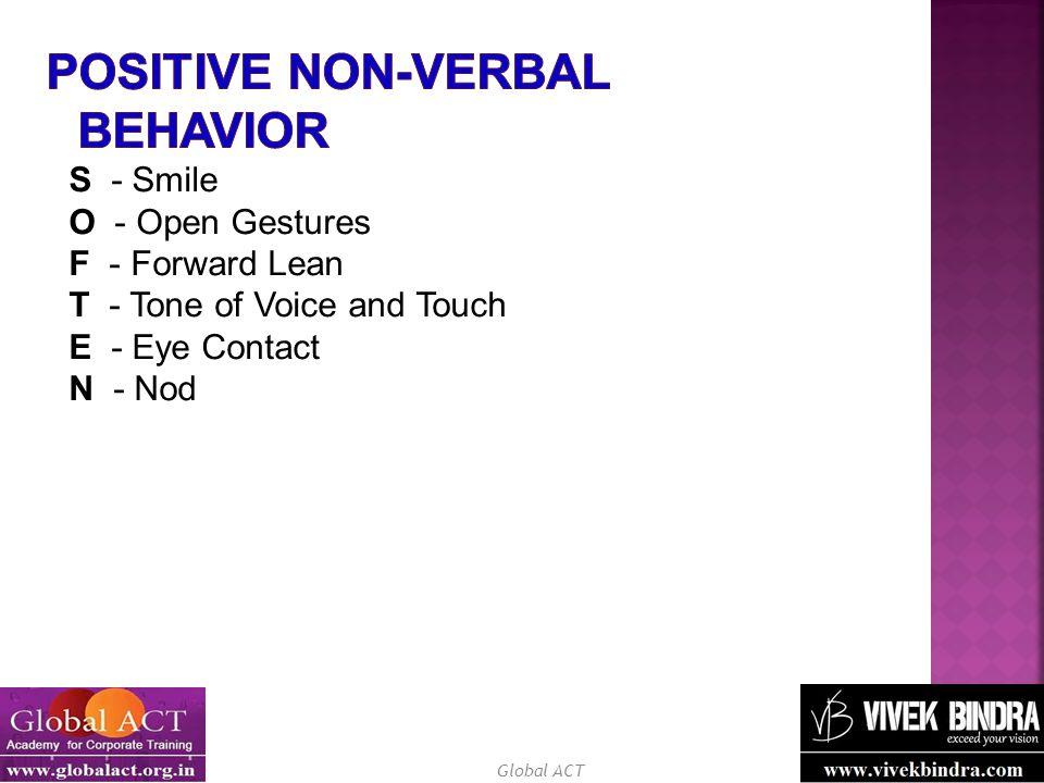 Positive Non-Verbal Behavior