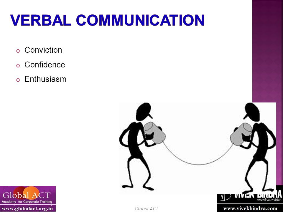 Verbal Communication Conviction Confidence Enthusiasm