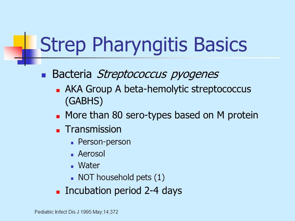 Strep Pharyngitis Basics