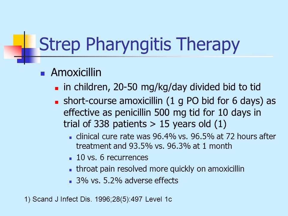 Strep Pharyngitis Therapy