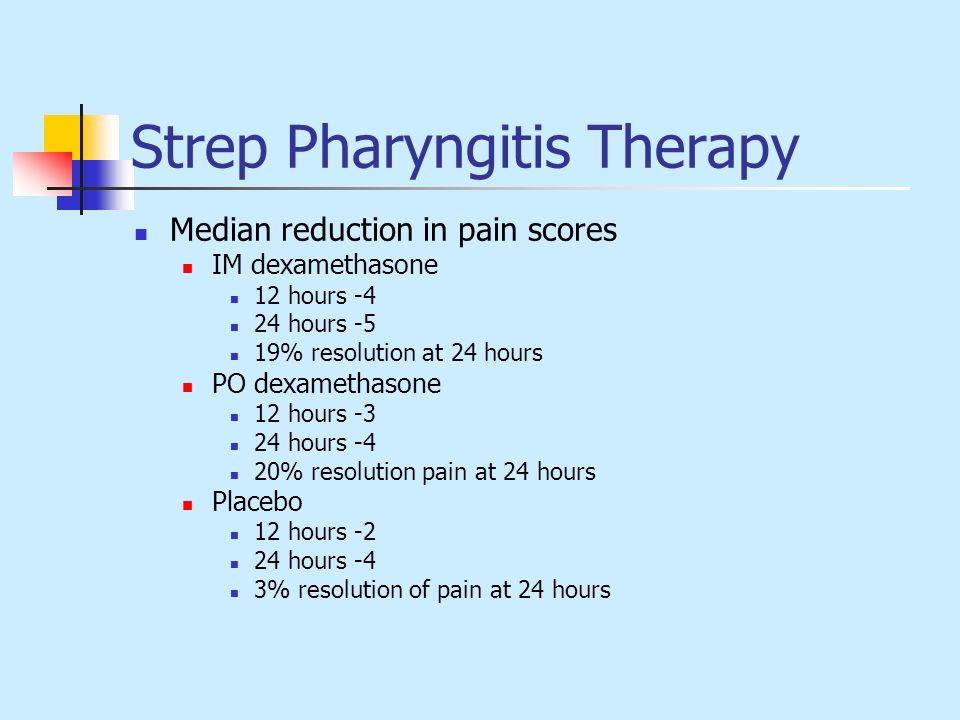 Strep Pharyngitis Therapy