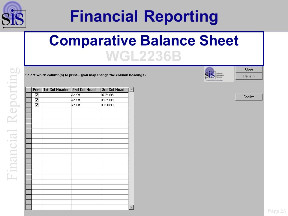 Comparative Balance Sheet WGL2236B