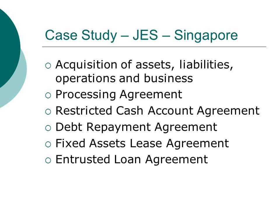 Case Study – JES – Singapore
