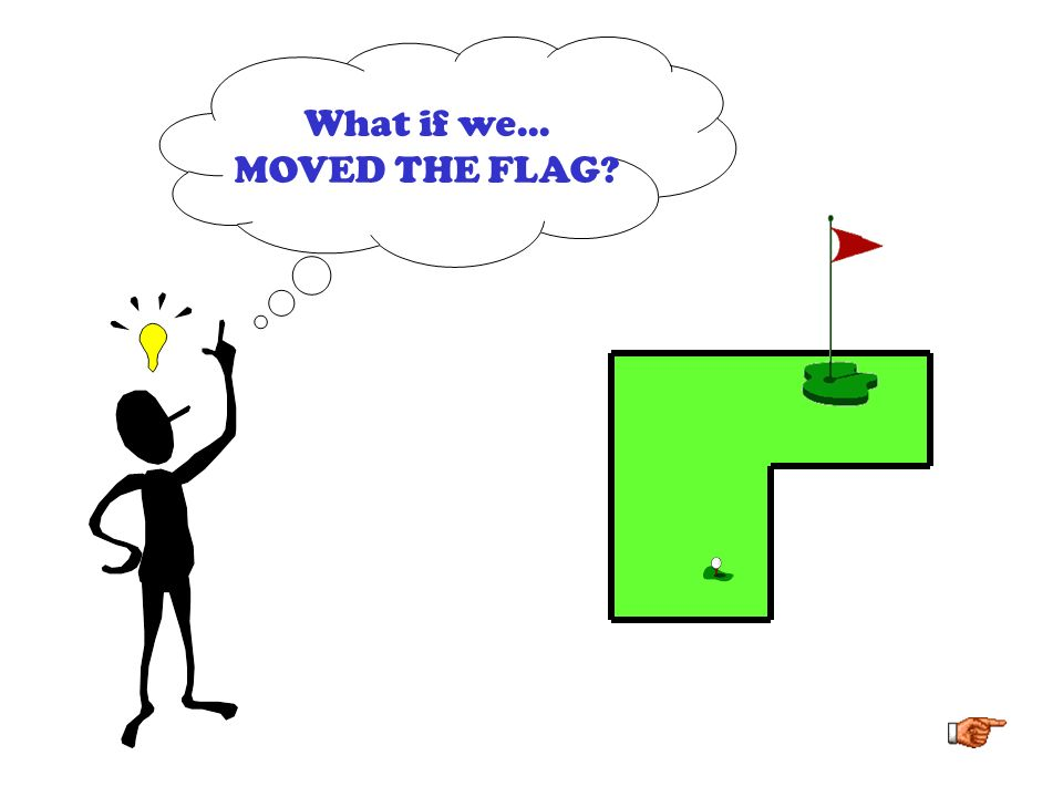 What if we... MOVED THE FLAG