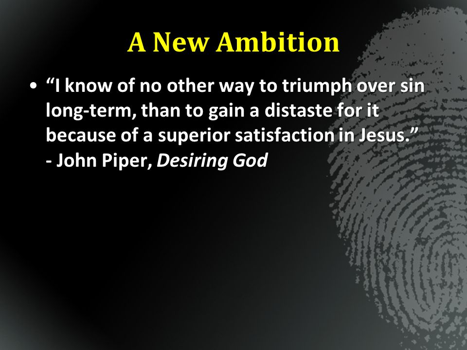A New Ambition