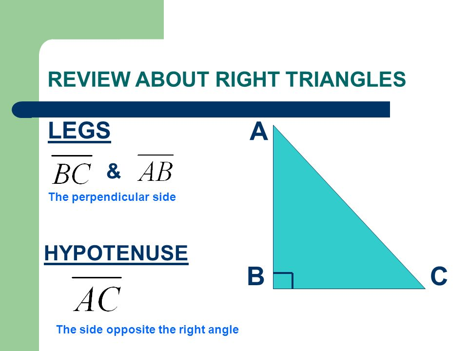 REVIEW ABOUT RIGHT TRIANGLES