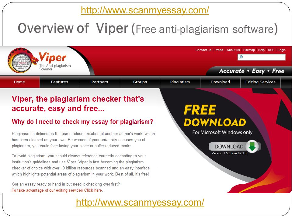Overview of Viper (Free anti-plagiarism software)