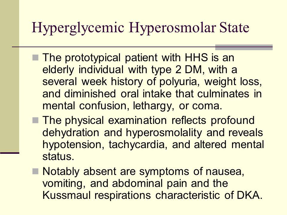 Hyperglycemic Hyperosmolar State