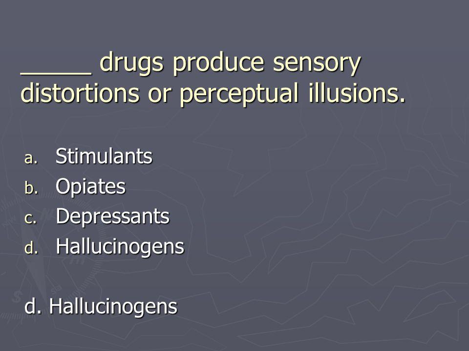 _____ drugs produce sensory distortions or perceptual illusions.