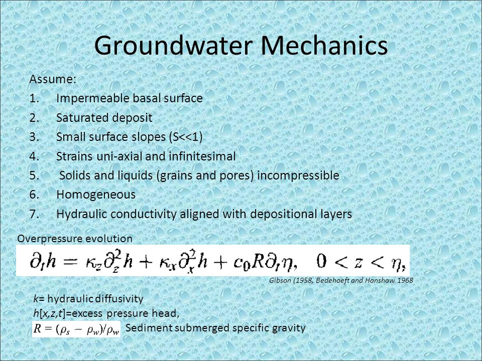 Groundwater Mechanics
