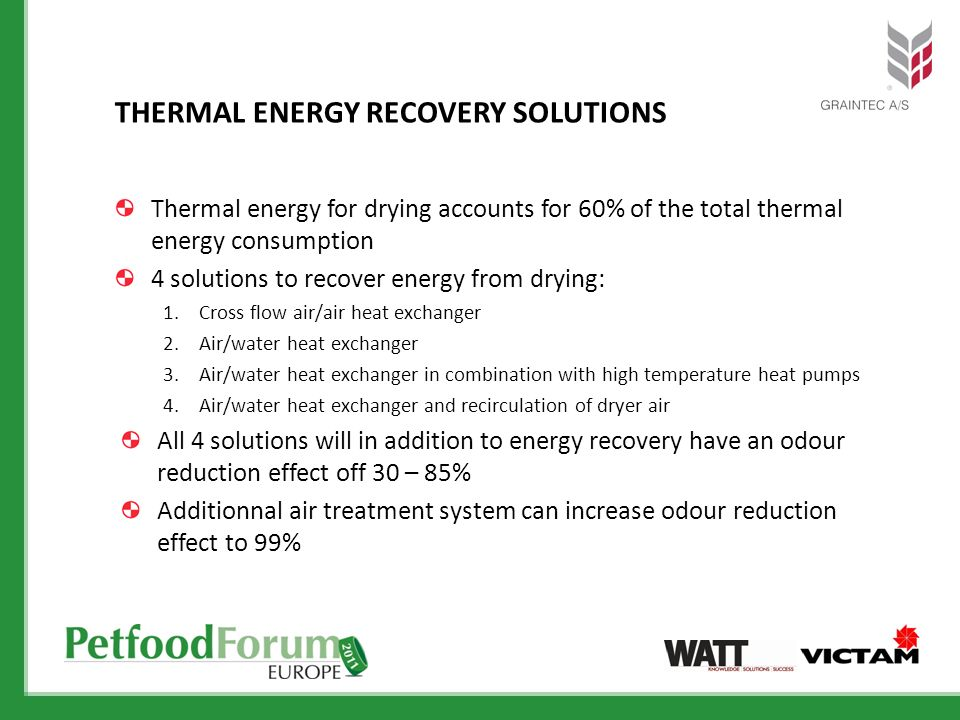 THERMAL ENERGY RECOVERY SOLUTIONS