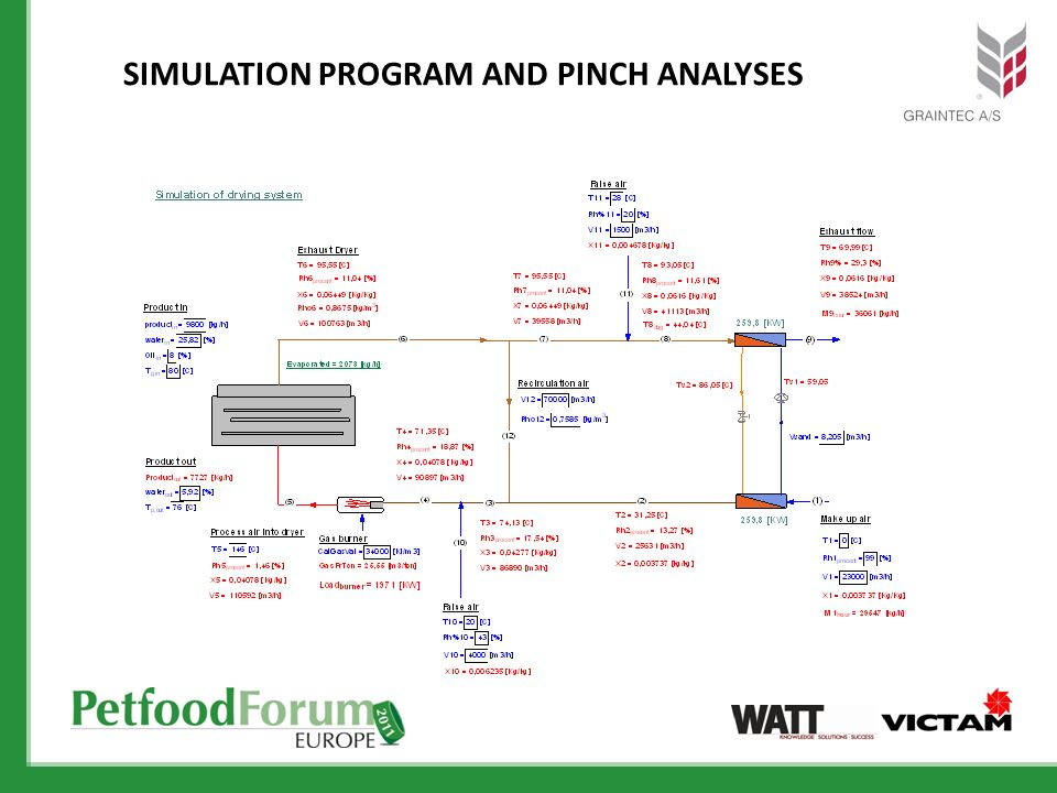 Simulation program and pinch analysEs